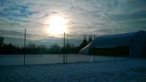 Tenis Kiełpin zimą